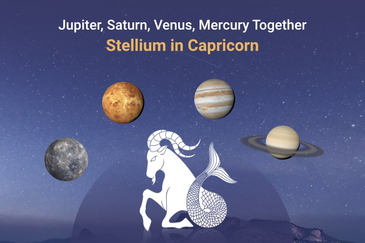 Stellium of 4 planets in Capricorn and its Impact on Zodiac Signs