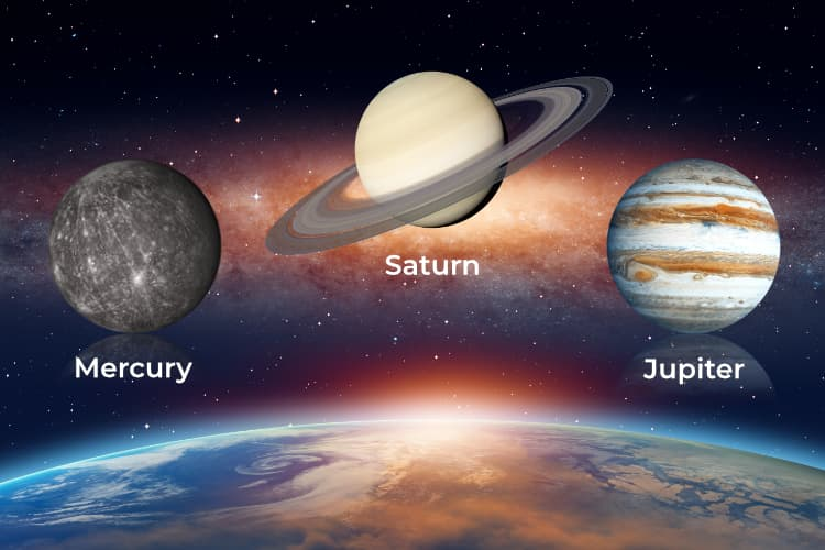 Triple Conjunction - Jupiter Mercury Saturn in Capricorn